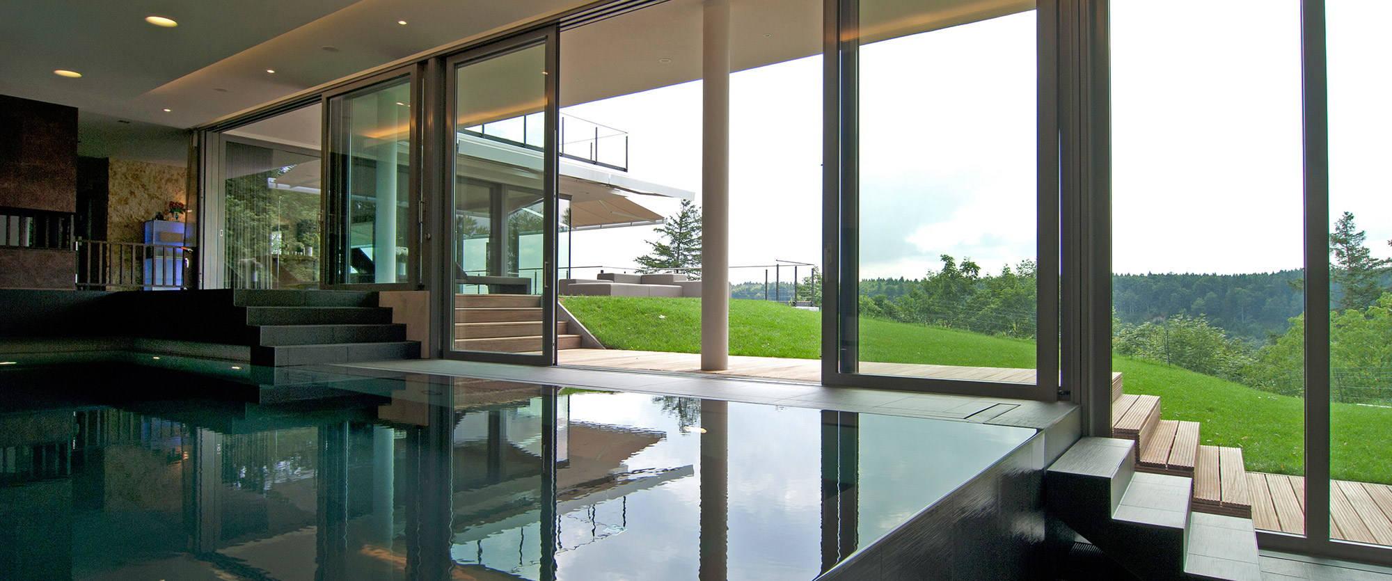 Eine starke kombination schwimmbecken und whirlpool vereint for Zen terras layouts